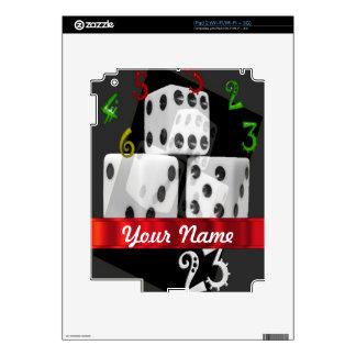 Modern gambling dice iPad 2 skin