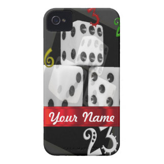Modern gambling dice iPhone 4 case