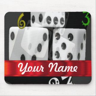 Modern gambling dice mouse pad