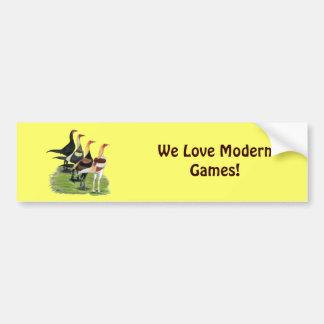 Modern Game Quartet Car Bumper Sticker