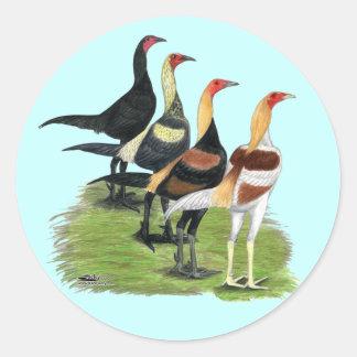 Modern Game Quartet Classic Round Sticker