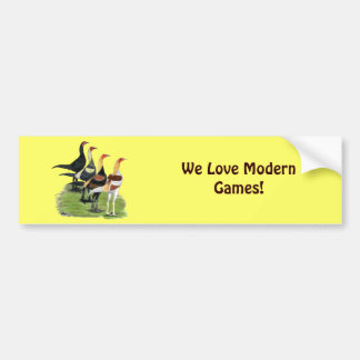 Modern Game Roosters Bumper Sticker