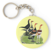 Modern Game Roosters Keychain