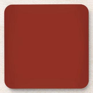 Modern Garnet Red Customizable Drink Coaster