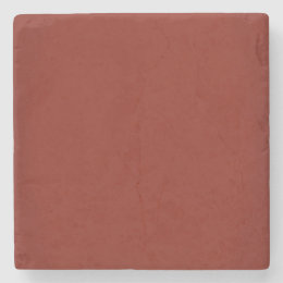 Modern Garnet Red Customizable Stone Coaster