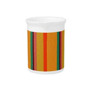 Modern Geeky Urban Stripes Drink Pitcher