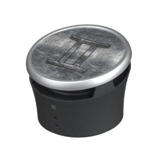 Modern Gemini Zodiac Sign Grunge Distressed Style Bluetooth Speaker