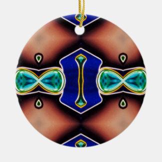 Modern Gender Neutral Pattern Ceramic Ornament