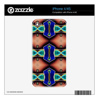 Modern Gender Neutral Pattern Decal For iPhone 4