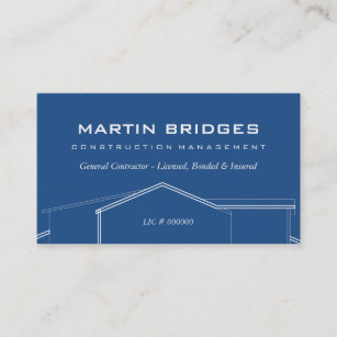 General Contractor Business Cards Zazzle