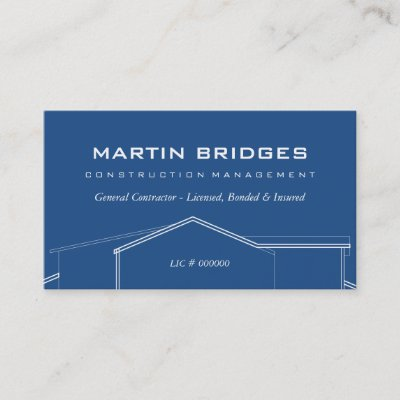 Modern General Construction Business Cards Zazzle