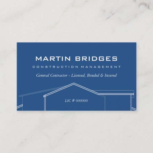 Modern General Construction Business Cards Zazzle. Modern General Construction Business Cards. Wiring. General Construction Diagram At Scoala.co