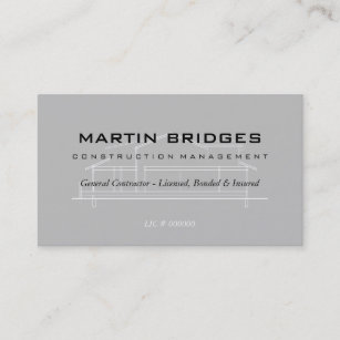 Construction business cards 4400 construction business card templates modern general construction business cards colourmoves