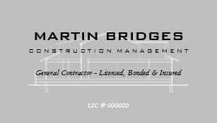 modern general construction business cards - Contractor Business Cards