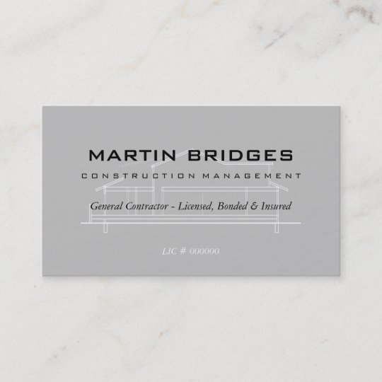 Modern general construction business cards zazzle modern general construction business cards reheart Image collections