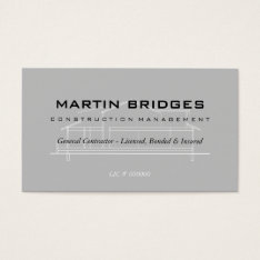 Modern General Construction Business Cards at Zazzle
