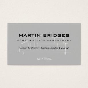 Construction business cards 4400 construction business card templates modern general construction business cards colourmoves
