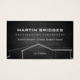 Generic business cards templates zazzle modern general construction chalk business cards reheart Images
