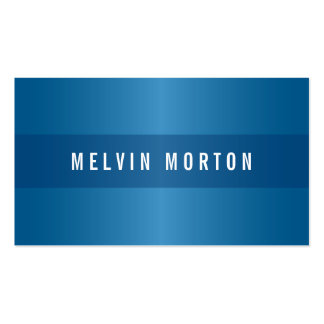 Modern generic blue stylish professional Double-Sided standard business cards (Pack of 100)
