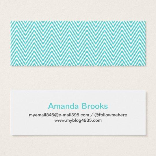 Modern generic elegant chevron zigzag personal mini business card