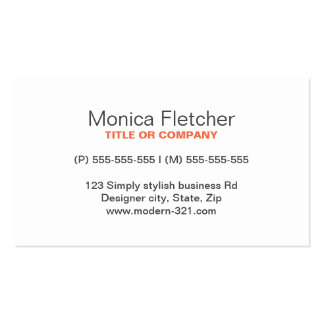 Modern generic simple elegant personal Double-Sided standard business cards (Pack of 100)