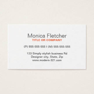 Modern generic simple elegant personal business card