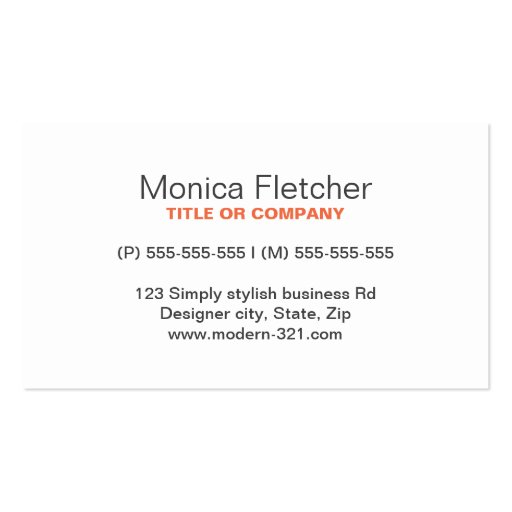 Modern generic simple elegant personal business cards