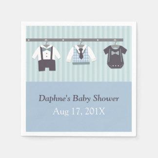 Modern Gentleman Baby Boy Shower Party Supplies Napkin