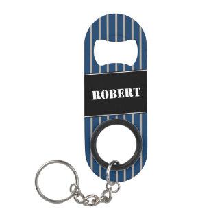 Modern Gentlemen's Pin Stripe Keychain Bottle Opener