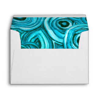 Modern Geode Wedding | Blue and Turquoise Envelope