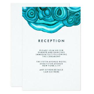 Modern Geode Wedding | Blue Reception Card