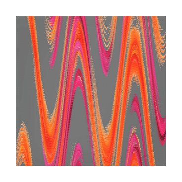 Professional Business Modern Geometric Abstract Grey Orange Hot Pink Canvas Print