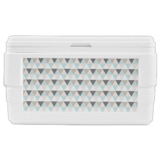 Modern Geometric Abstract Neutral Triangle Pattern Chest Cooler