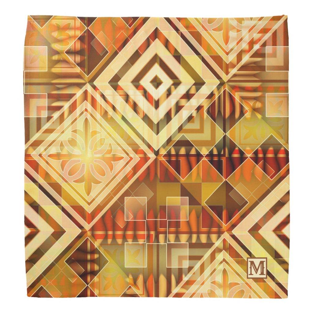 Modern Geometric Abstract Pattern Bandana
