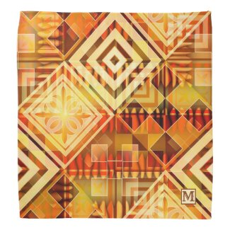 Modern Geometric Abstract Pattern Bandana