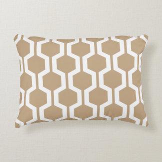Modern Geometric Accent Pillow - Almond