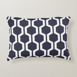 Modern Geometric Accent Pillow - Classic Blue