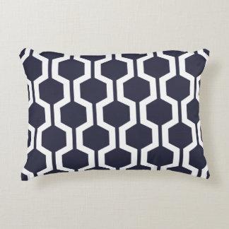 Modern Geometric Accent Pillow - Classic Blue