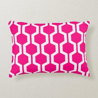 Modern Geometric Accent Pillow - Hot Pink