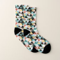 Modern Geometric and Tropical Fusion Pattern Socks