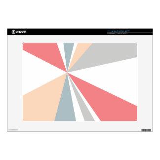"Modern Geometric Art Retro Color Burst 15"" Laptop Decals"