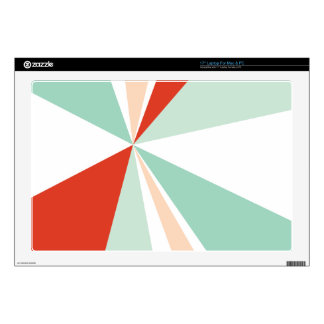 Modern Geometric Art Retro Color Burst Decal For Laptop