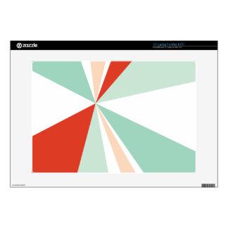 "Modern Geometric Art Retro Color Burst Decals For 15"" Laptops"