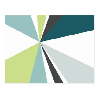 Modern Geometric Art Retro Color Burst Postcard