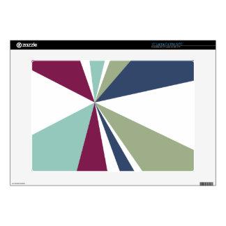 Modern Geometric Art Retro Color Burst Skin For Laptop