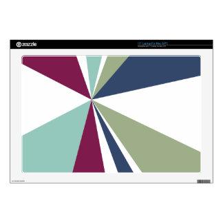Modern Geometric Art Retro Color Burst Skins For Laptops