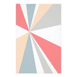 Modern Geometric Art Retro Color Burst Stationery