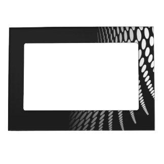Modern Geometric Black and White Photo Frame