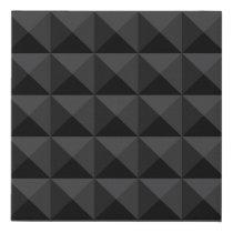 Modern Geometric Black Square Pattern Faux Canvas Print