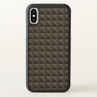 Modern Geometric Black Square Pattern iPhone X Case